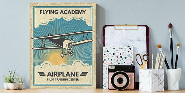 Airplane image canvas print