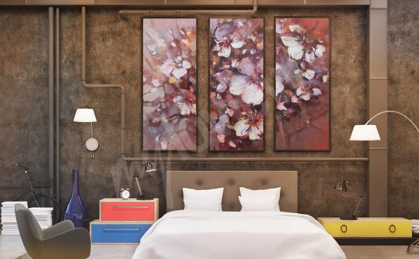 Almonds blossom canvas print for bedroom
