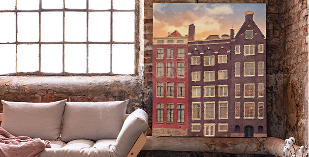Amsterdam city canvas print