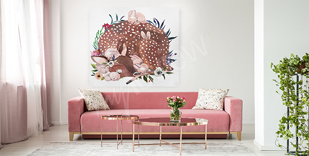Animals canvas print for the living room