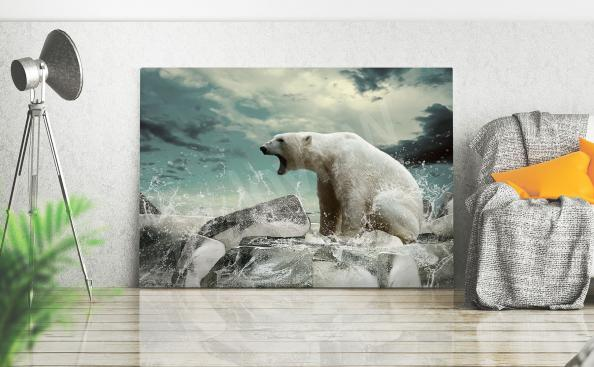 Animals canvas print with polar bear