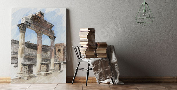 Antique architecture canvas print