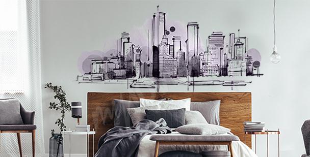 Artistic bedroom sticker