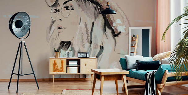 Artistic-style wall mural