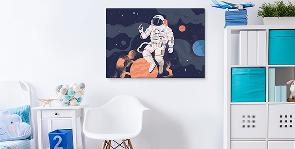 Cosmic motif canvas print