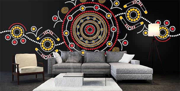 Australian etno design mural