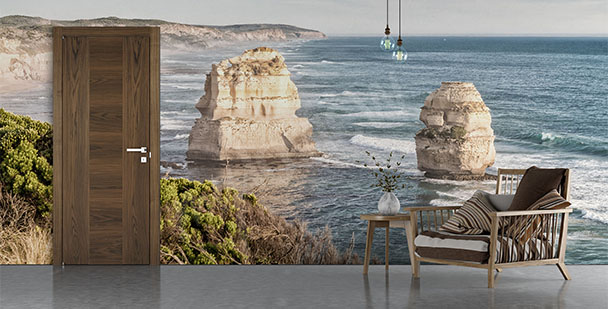 Australian landscape mural