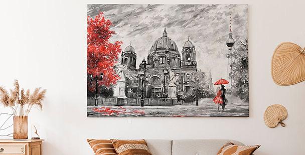 Autumn Berlin canvas print