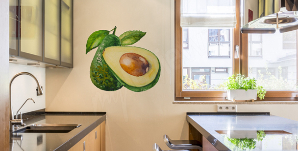 Avocado kitchen sticker