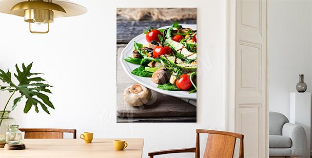 Avocado salad canvas print