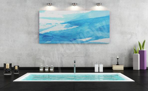 Azure canvas print to the bathroom