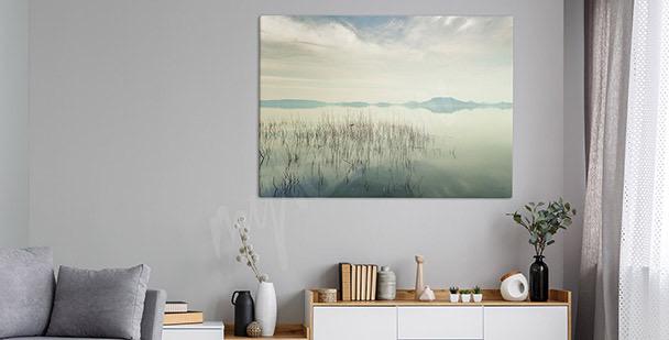 Balaton lake view canvas print