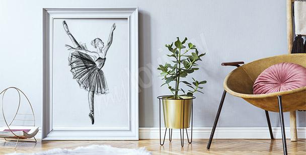 Ballerina drawing poster