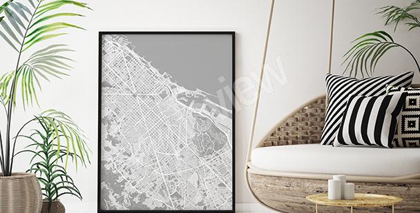 Barcelona map poster