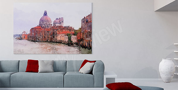 Baroque architecture canvas print