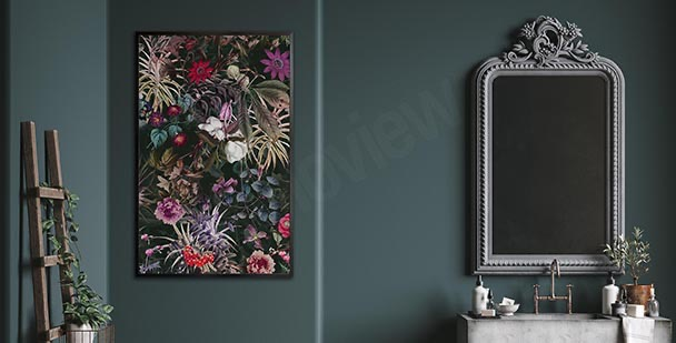 Bathroom poster with plants