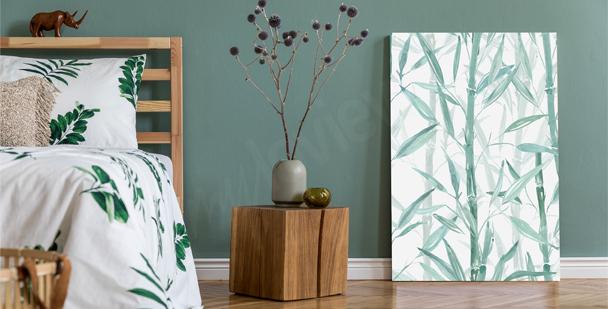 Bedroom plant canvas print