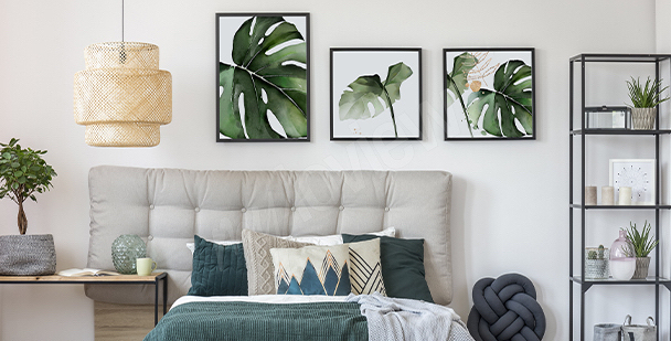 Bedroom poster with plants