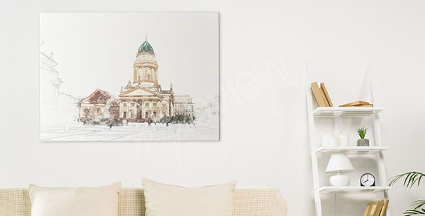Berlin cathedral canvas print