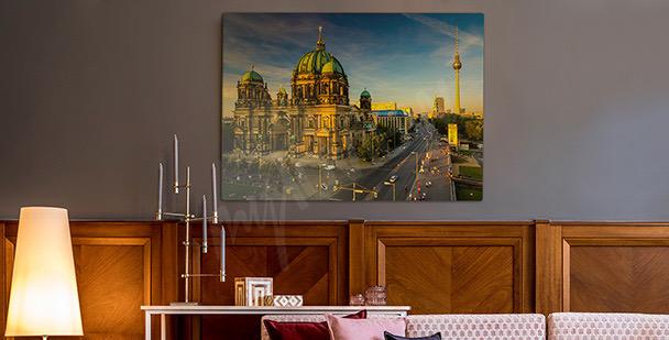 Berlin in the sunlight canvas print