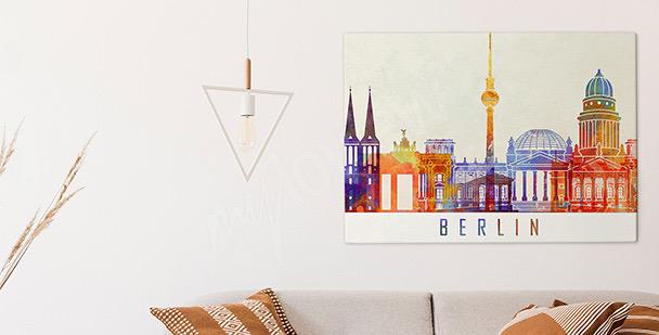 Berlin watercolour canvas print