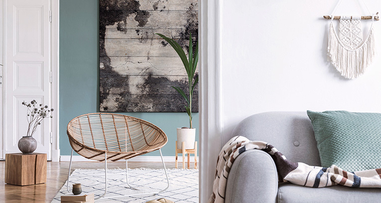 Scandinavian style paintings - universal decoration in the northern edition