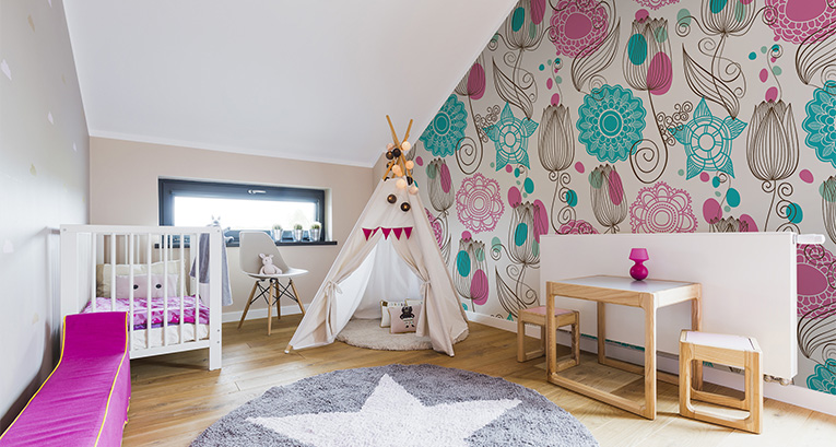 A children's room in the attic: inspiration for parents