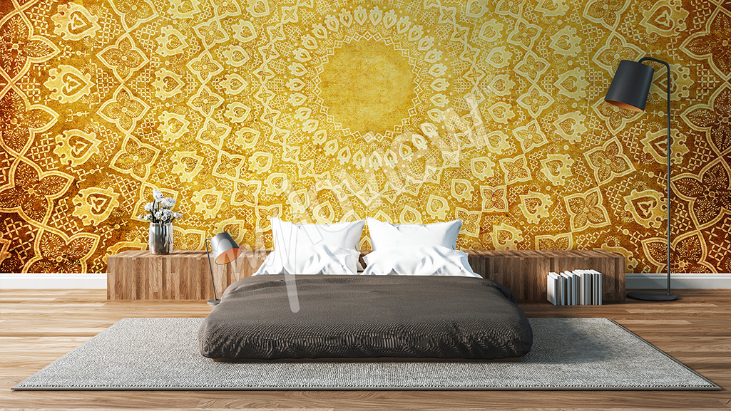 Bedroom wall mural oriental