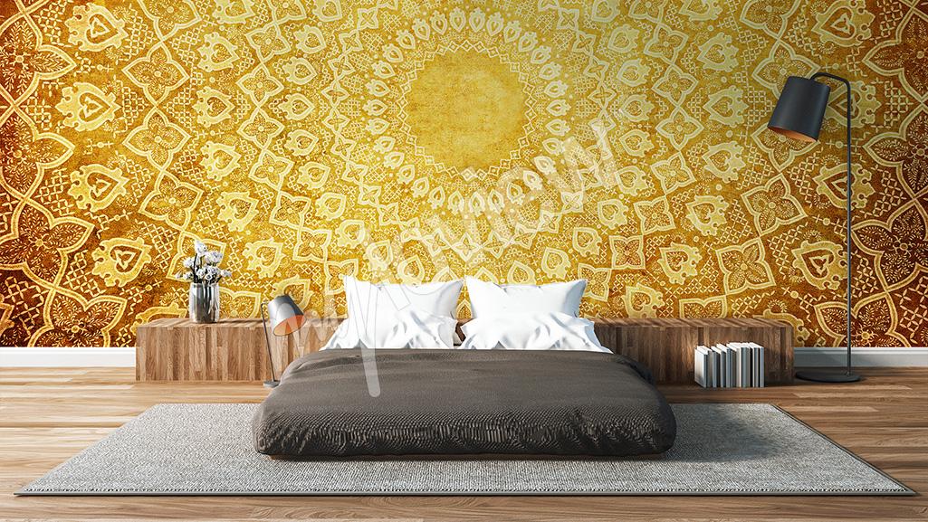 Bedroom wall mural oriental