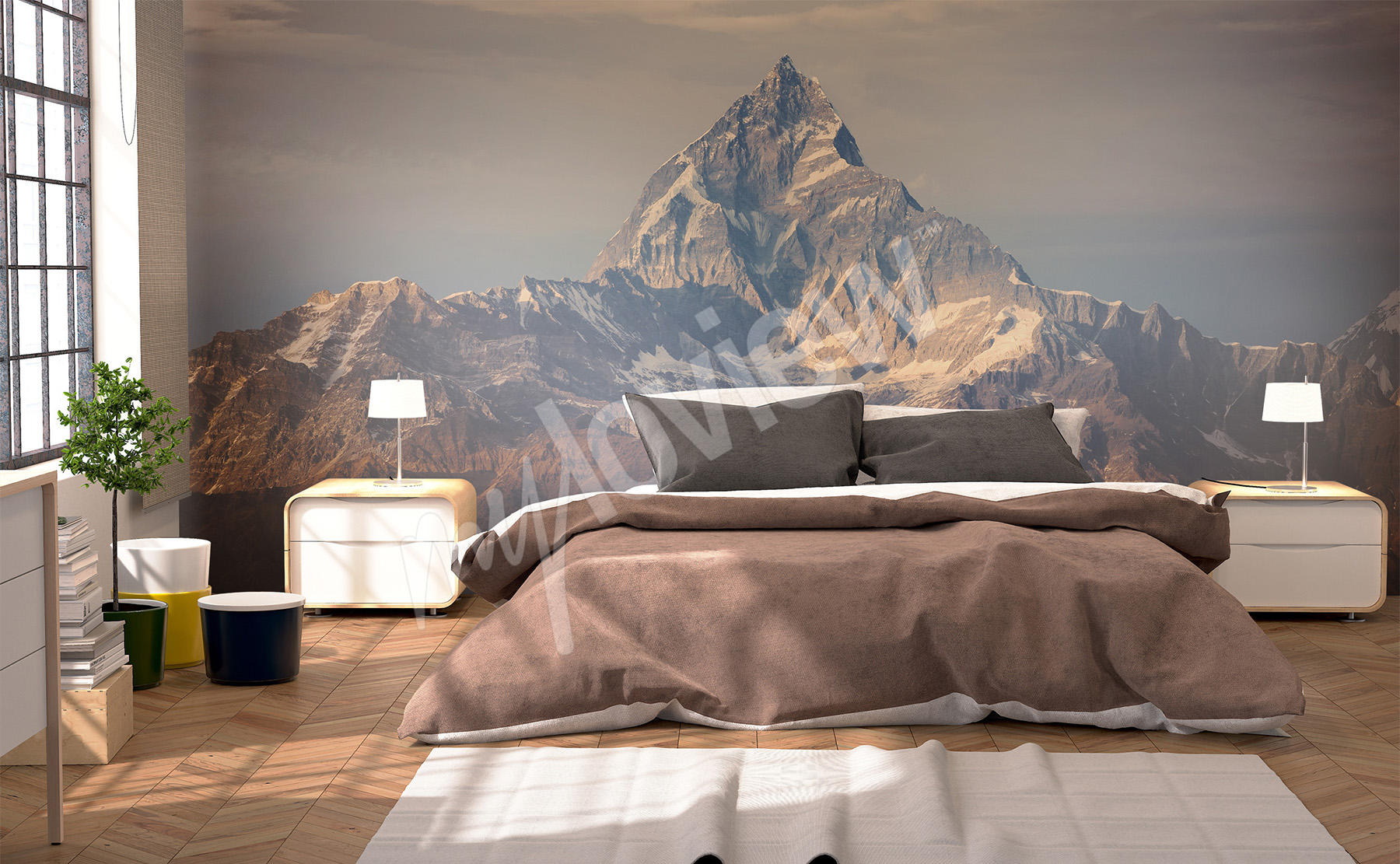 murals mountains to size of wall myloview com