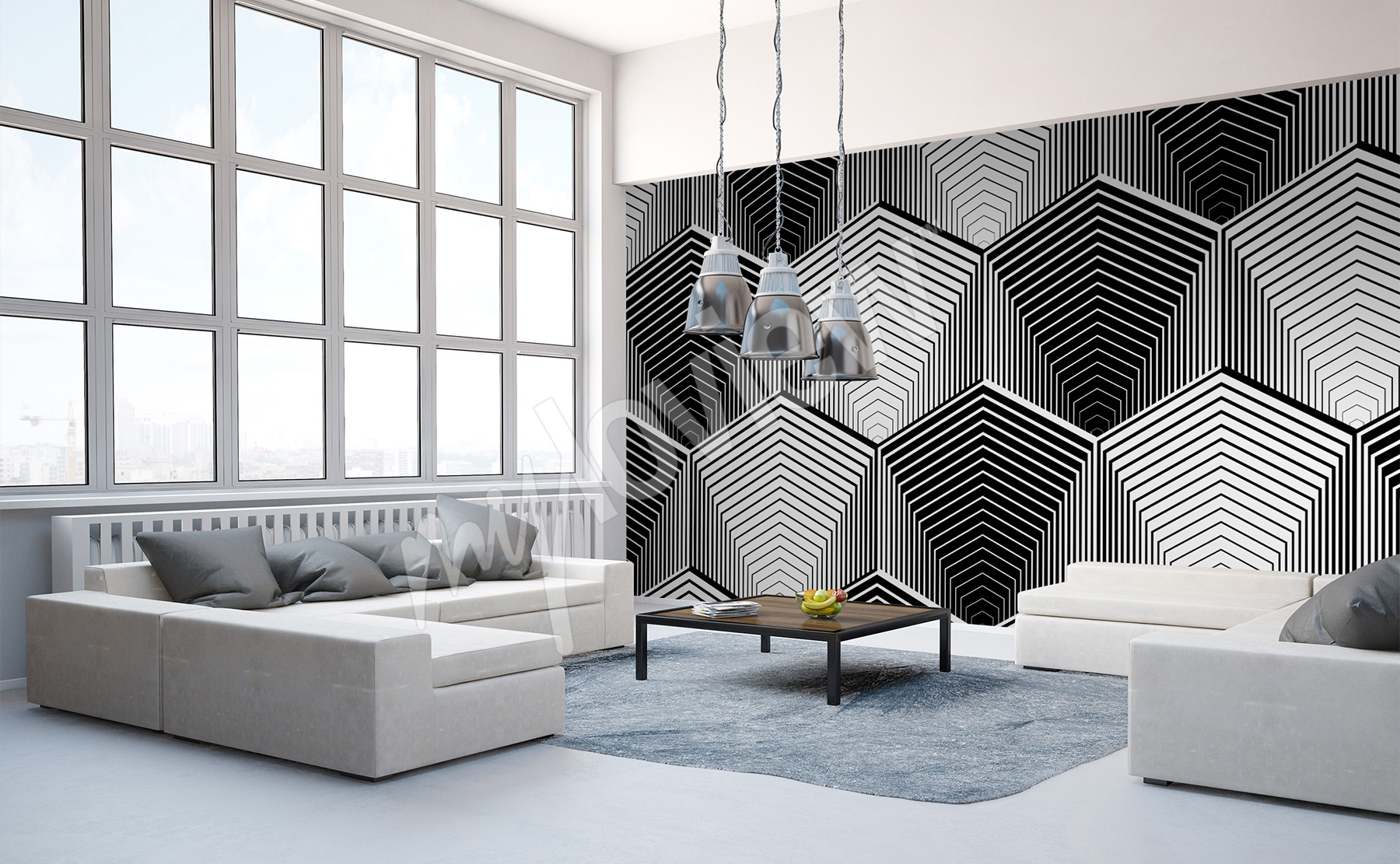 murals black and white to size of wall. Black Bedroom Furniture Sets. Home Design Ideas