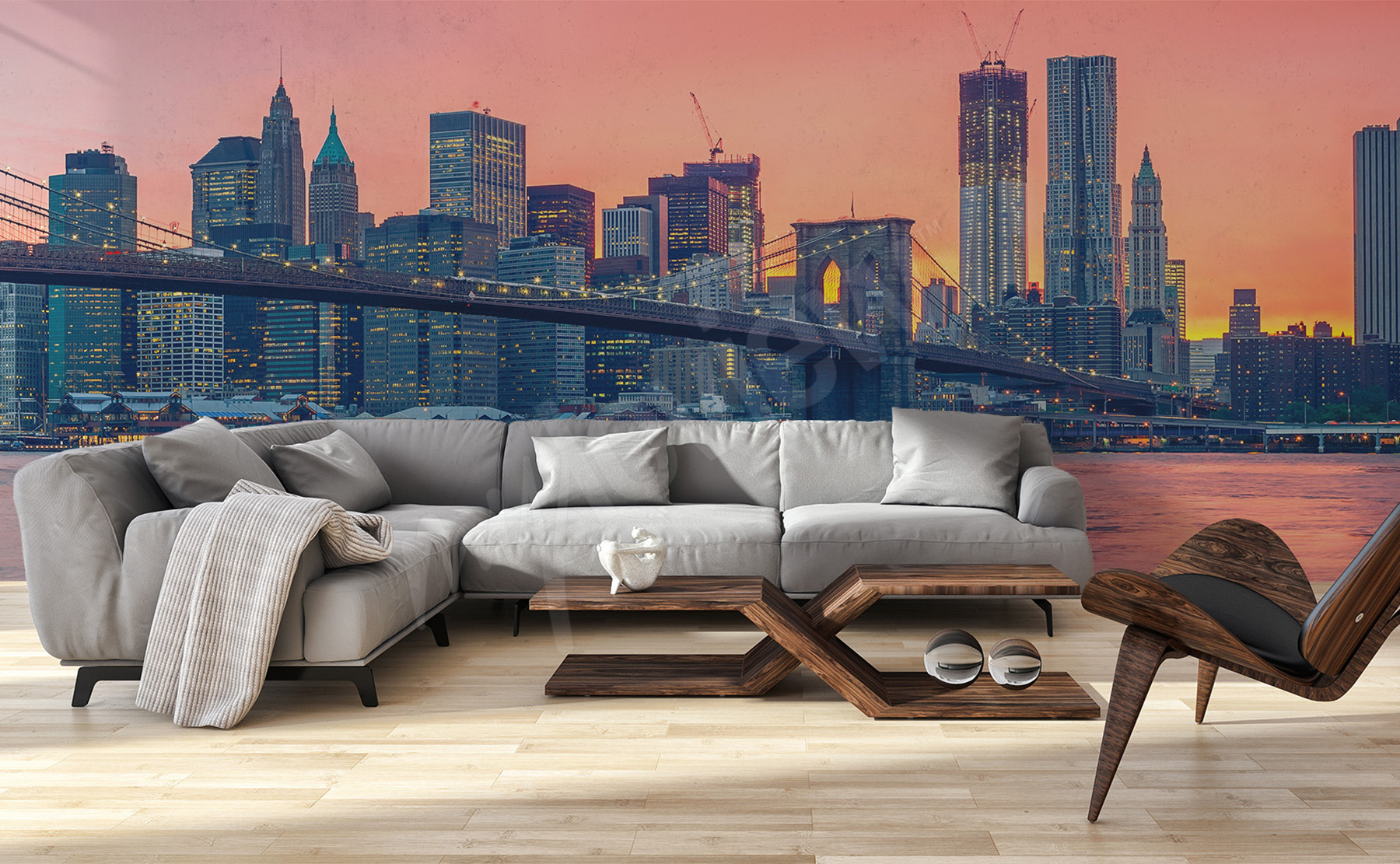 Murals bridges to size of wall for Brooklyn bridge mural