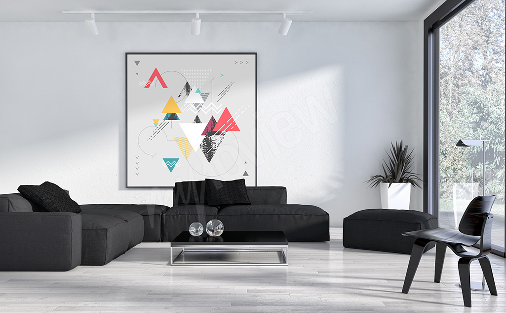 Colorful triangles canvas print