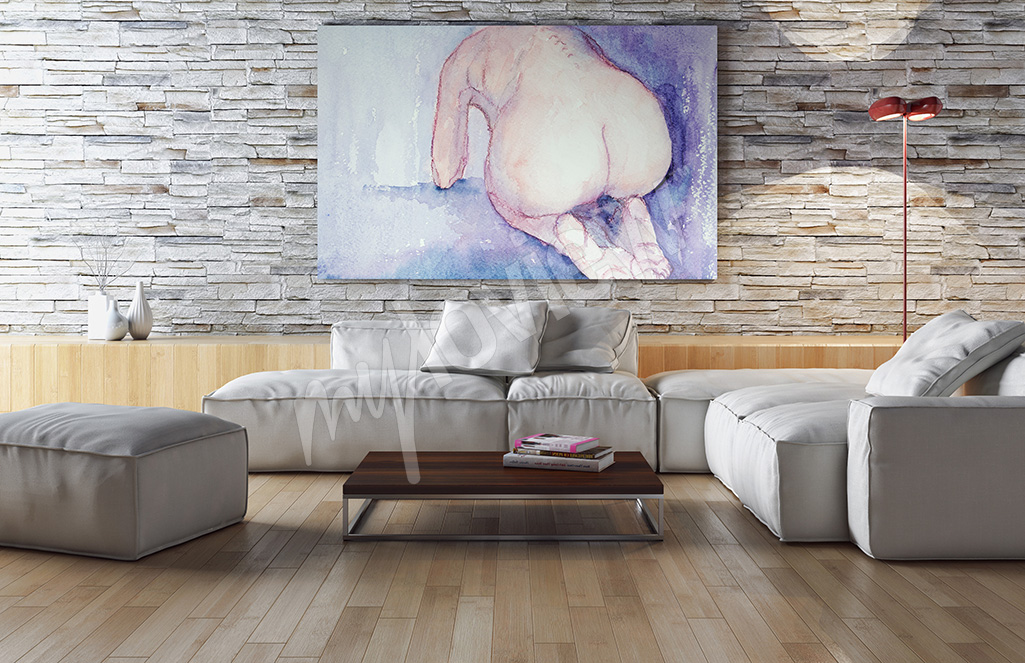 Female nude canvas prints