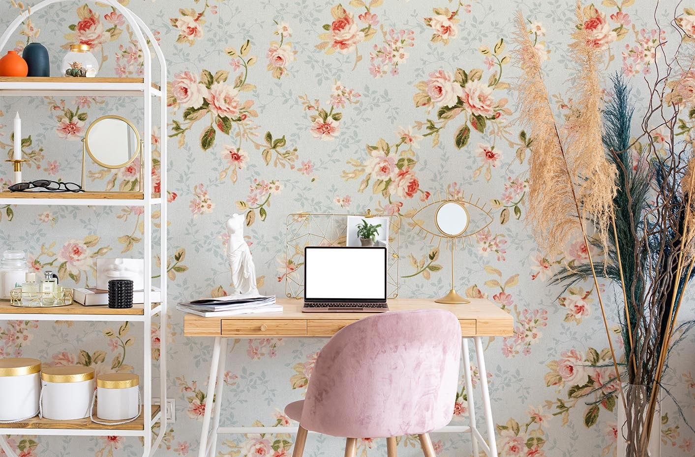 Floral pattern mural