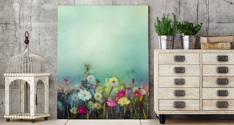 Flower wall art - a universal decoration of your apartment