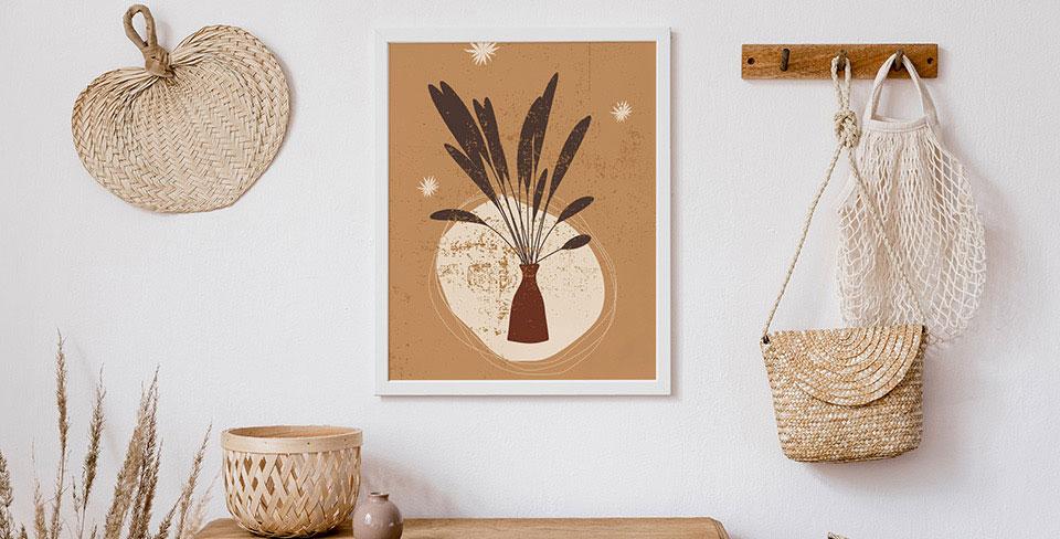 Grasses in a vase poster