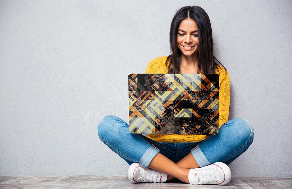 Laptop sticker geometric pattern