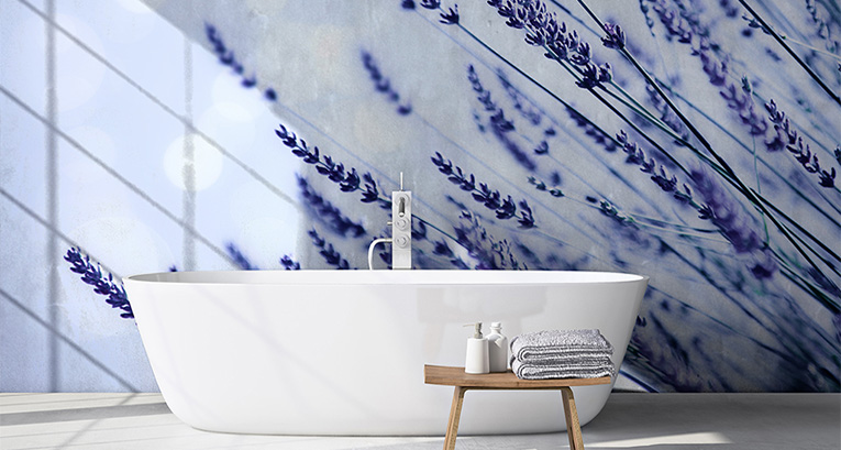 A source of calm and peace: lavender wallpaper