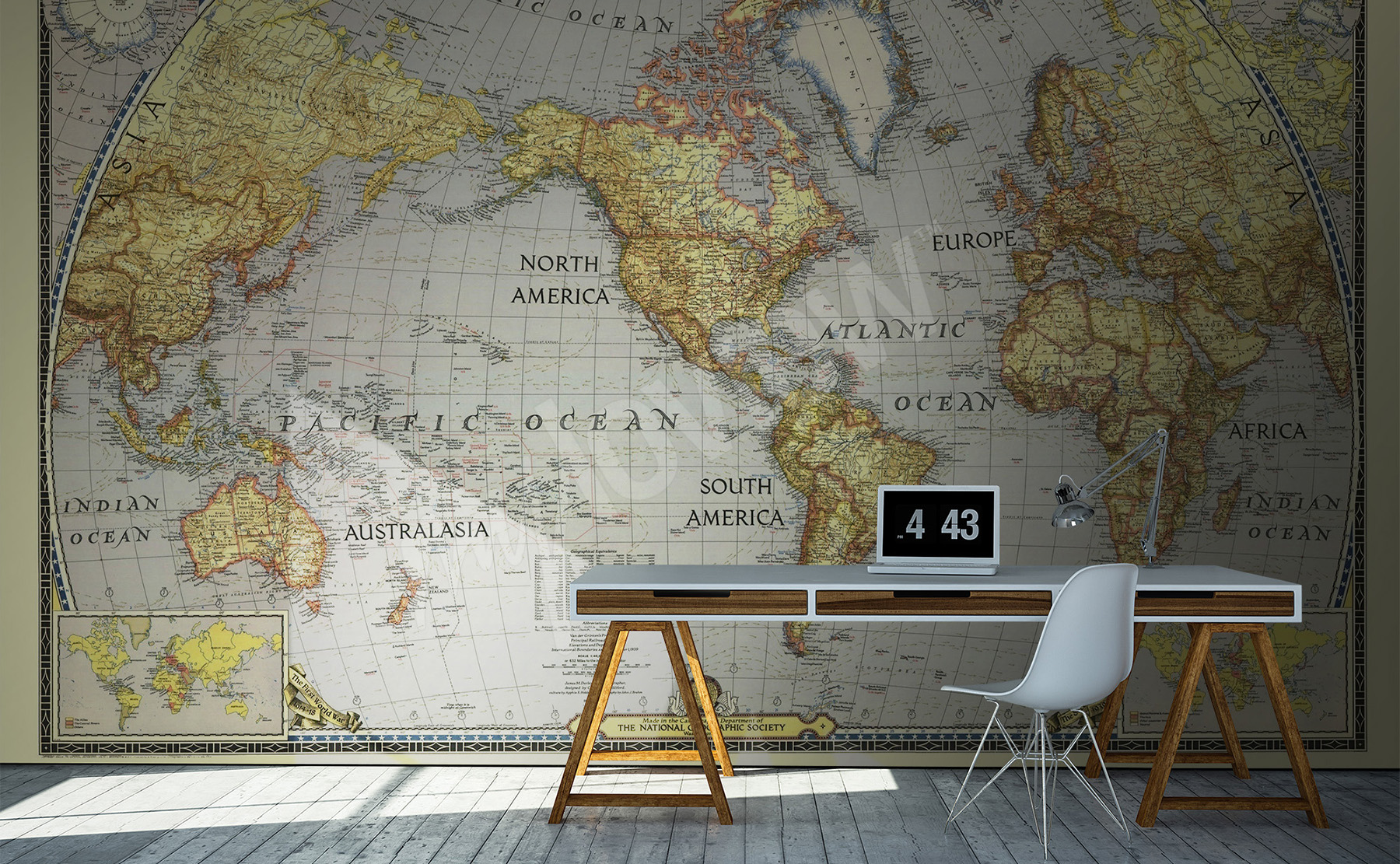 Murals by category maps wall mural myloview go to the product old map mural gumiabroncs Image collections