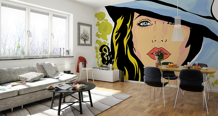 Wall murals, posters and pop art canvas prints - inspirations