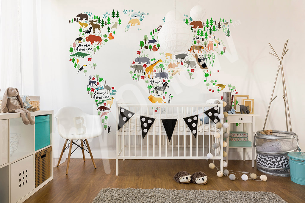 Printable world map for kids