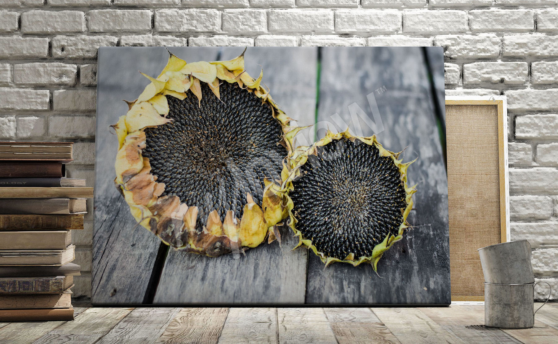Go To The Product Rustic Sunflowers Canvas Print