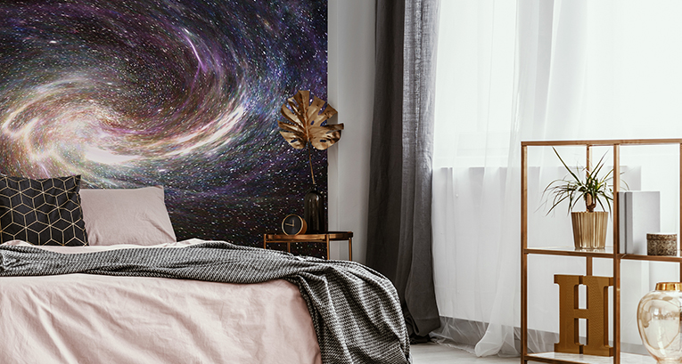 Space murals – a great way to introduce the galaxy trend in your room