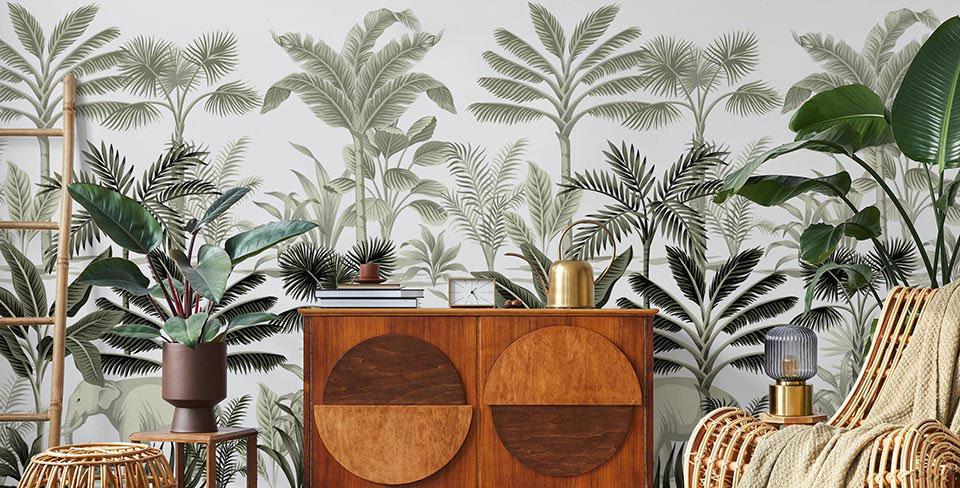 Vintage palms wall mural