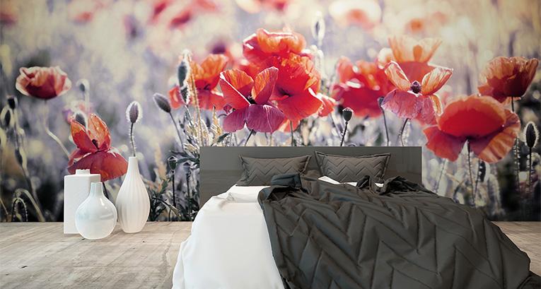 Many designs of a bedroom: bedroom murals