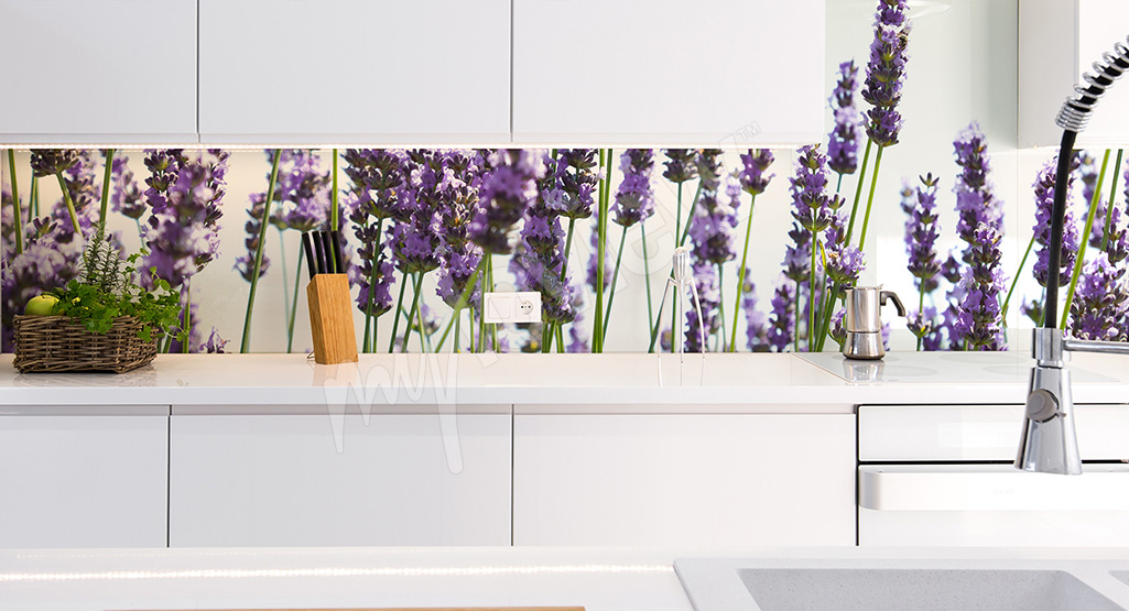 Wall mural with lavender flowers