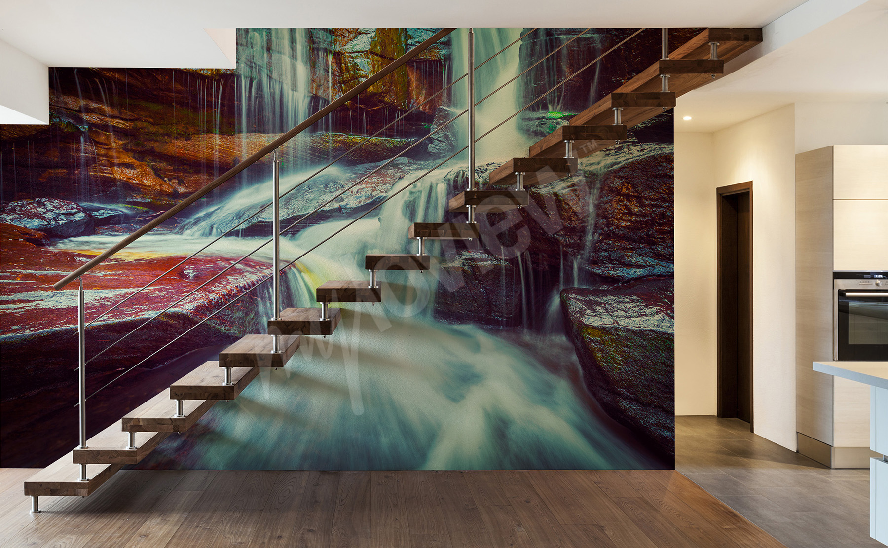 go to the product waterfall wall mural