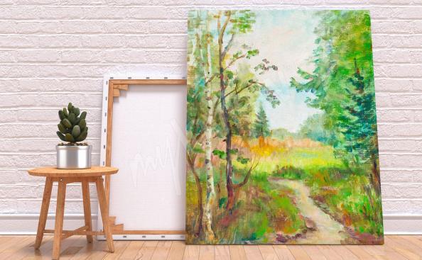 Birch forest canvas prints