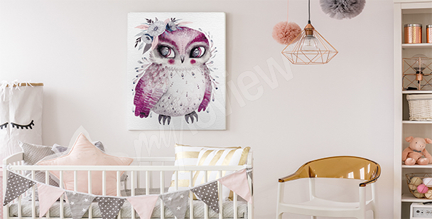 Bird canvas print for a child's room